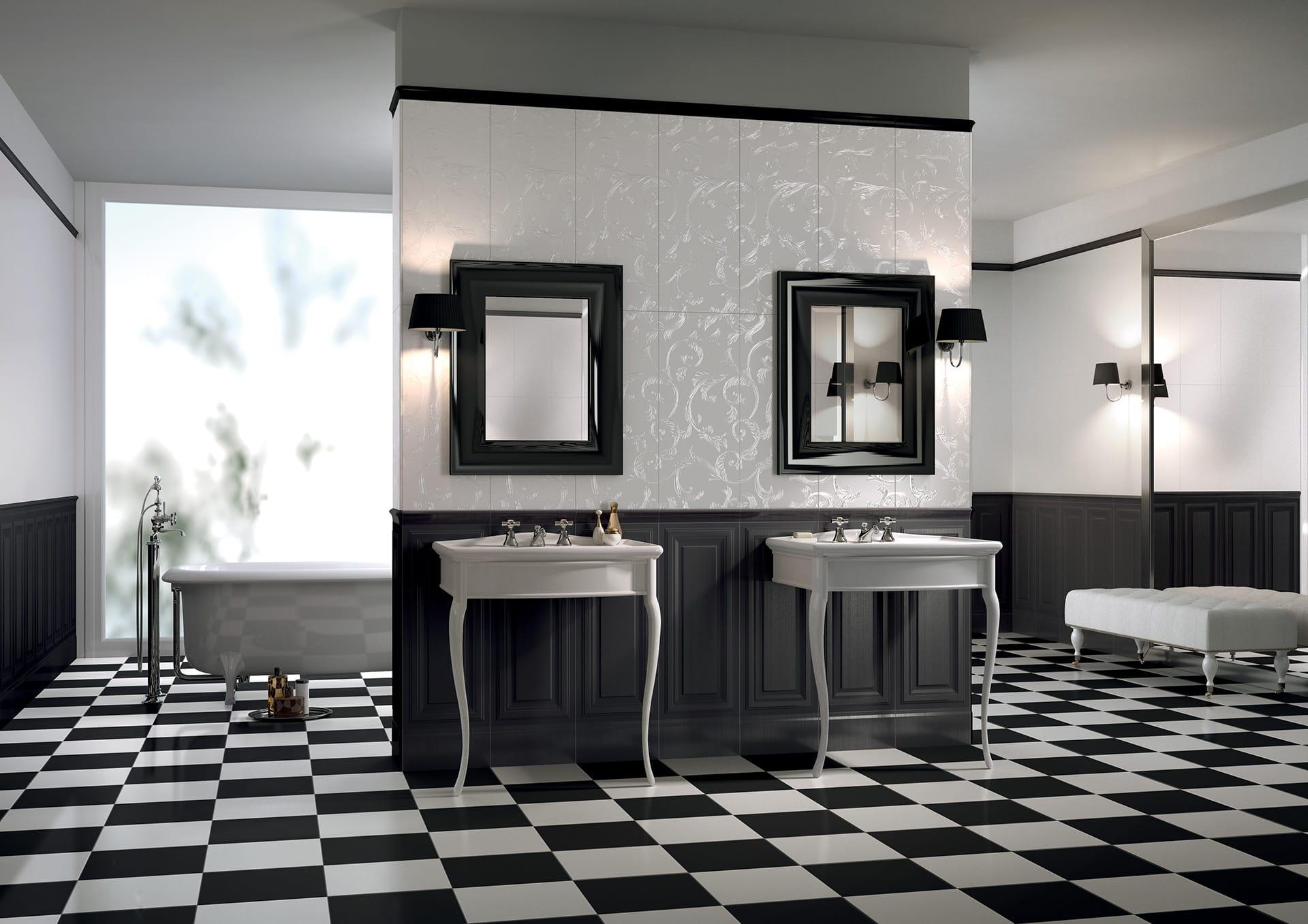 Rivestimento e pavimento liberty cisa ceramiche - Pavimento e rivestimento bagno uguale ...