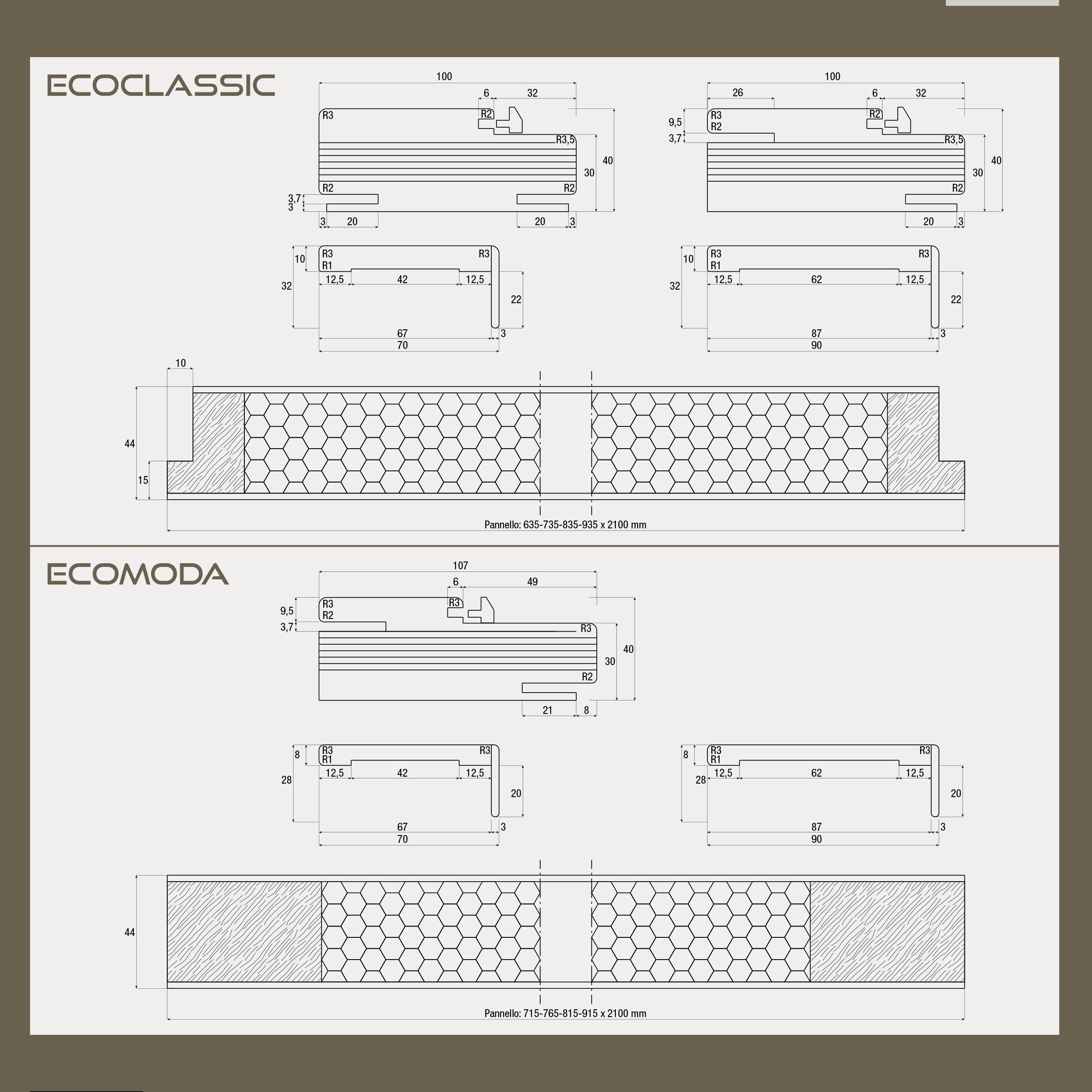 Scheda tecnica porta Ecomoda- Ecoclassic